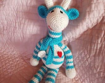 Crochet giraffe blanket