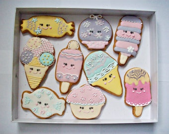 set of decorated cookies, children gift