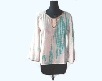 Summer Bohemian Hand crafted Beaded Tunic Blouse