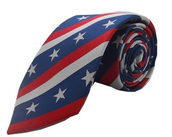Liberian, Stars & Stripes, Neck tie, Red, White and Blue
