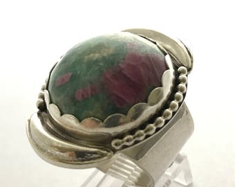 Zoisite with Ruby ring