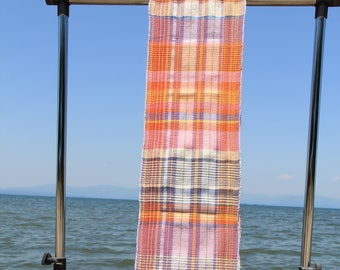 Handwoven shawl - blue is really beatiful/blue and orange,  08