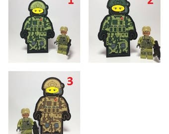 Custom Lego military army Morale Patch