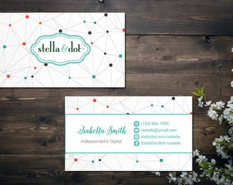 PERSONALIZED Stella and Dot Business Card, Custom Stella and Dot Business Card, Custom Stella and Dot, Printable Business Card SD03