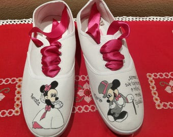 Wedding sneakers, shoes, personalized shoes, canvas shoes