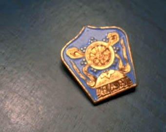 Vintage Blue and Gold Enamel Lapel Pin