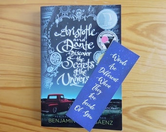 Ari And Dante Bookmark Book Quotes Bookworm Words Are Different When They Live Inside Of You