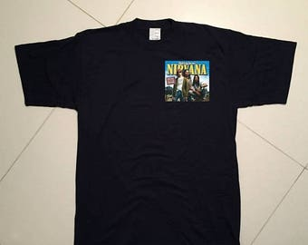 LAST DAY 35% OFF Nirvana rolling stone magazine screen stars t shirt - Size L/Xl