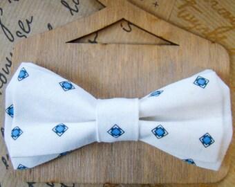 Bow Tie   Bowtie   White   Сlaret color