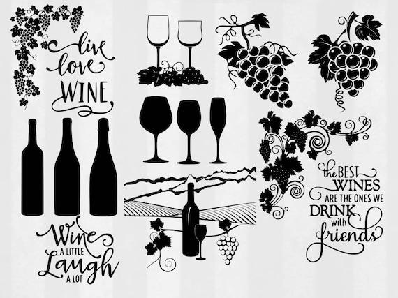 wine svg bundle wine clipart wine cut files wine svg files. Black Bedroom Furniture Sets. Home Design Ideas
