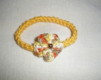 Crochet girl bracelet