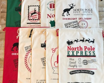 Personalized Santa Sacks, Personalized Name Christmas Santa Sacks, Christmas Gift Sacks, Night Before Christmas Santa Sacks, Gift Sacks