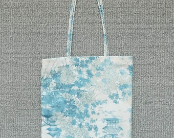 Lemonwhisked. Amateur hand-made Blue Imperial Collection Robert Kaufman small tote bag