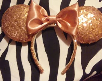 rose gold puffy ears