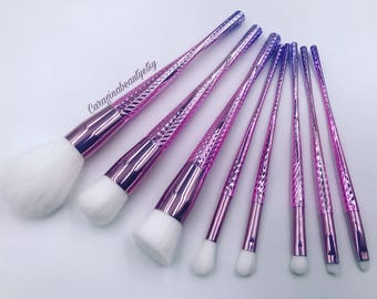 Pink Popsicle Makeup Brushes Set of 8