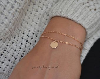 Rose ' Gold filled bracelet with tiles ' m '