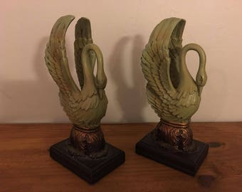 SWAN BOOK ENDS