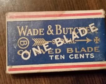 NOS Wade and Butcher curved single proprietary de blade
