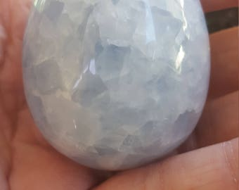 Blue Calcite egg with base