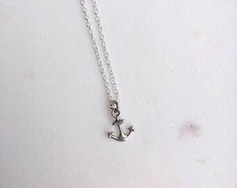 Anchor Necklace, Miniature Anchor  Necklace, Anchor Pendant, Nautical Jewellery