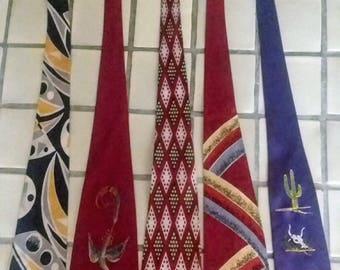 vintage ties, five in all, from the 1950s