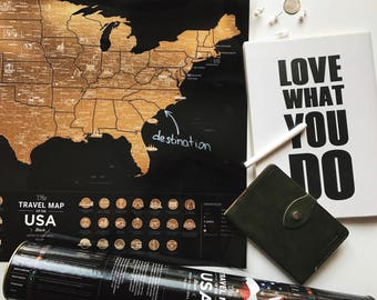 US Travel Map - Mark States You Have Been To - Free Shipping