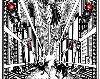 Slave to the Traffic Light Print, Song Illustration