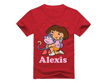 Dora T-Shirt for children - available in many sizes and colors