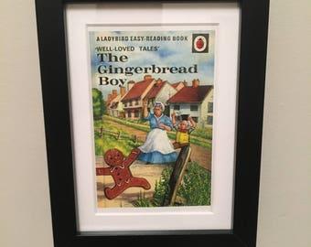 Retro Ladybird Book cover. The Gingerbread Boy