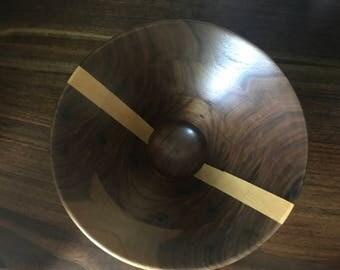 Walnut and Maple Segmented Wood Bowl