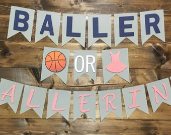 Baller or Ballerina/ Buckets or Bows/ Pink or Blue We Love You/ Gender Reveal/ Baseballs or Bows