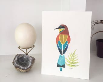 Bee-Eater Block Painting