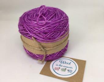 Hand Dyed DK Superwash Merino DK Purple 8