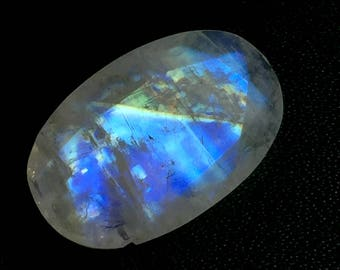 Natural African Rainbow Moonstone 12X19X6mm approx Oval faceted gemstone code#RM70