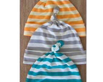 Infant Hats // Newborn Hat/ Girl Baby Hat// baby boy hat // Hat/ Baby Knotted Hat/ Knotted Cap/ Baby Hat/ Newborn Infant Hat