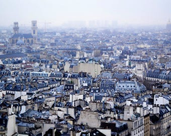 Paris France Rooftops European Travel Fine Art Photography Print