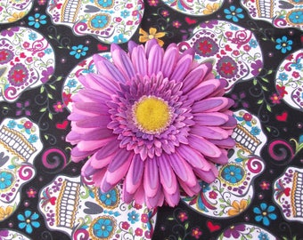 Pink and Purple daisy hair clip