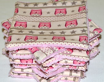 11 large wipes washable cotton/Terry 13 x 13 cm