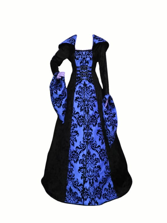 the gallery for gt gothic black and blue dress
