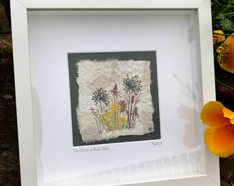 Dandelions & Seed Heads  Fragment to Flowers  Textile Art
