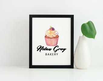 Cupcake Logo - Cake Shop Logo - Cake Logo - Bakery logo Design - Bake Shop Logo - branding logo - Sweets logos - business designs