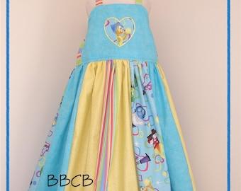 Girls - Joyful Happiness Dress - Ready to Ship fits aprxx 7/8 8/9 + -- Birthday JOY - Pageant - Cruise - Twirl