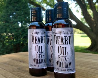2 oz Beard Oil - Beard Care - Fitzwilliam - Beard Grooming - Beard Conditioning - Gifts for Him