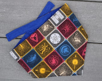 Game of Thrones patchwork dog bandana