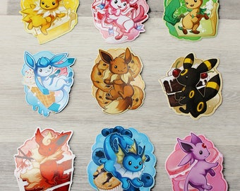 Eeveelutions Sticker Set