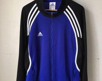 Adidas polyester track jacket Large