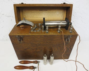 Antique Electroshock Therapy Medical Machine, Electric Shock Device, Instructions