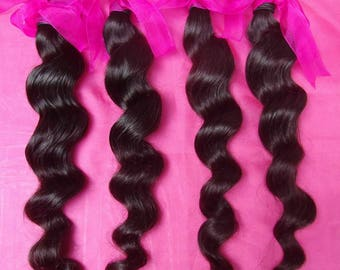 Soft Silky Loose Wave Virgin Hair Extensions 3pcs/lot Brazilian Indian Malaysian Hair Types Dyeable 8A