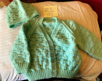 Cardigan and Hat