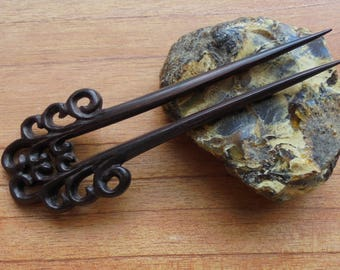 2 Prongs Wood Hair Sticks, Hair Pin, Wood Hair Fork Accessories HS41